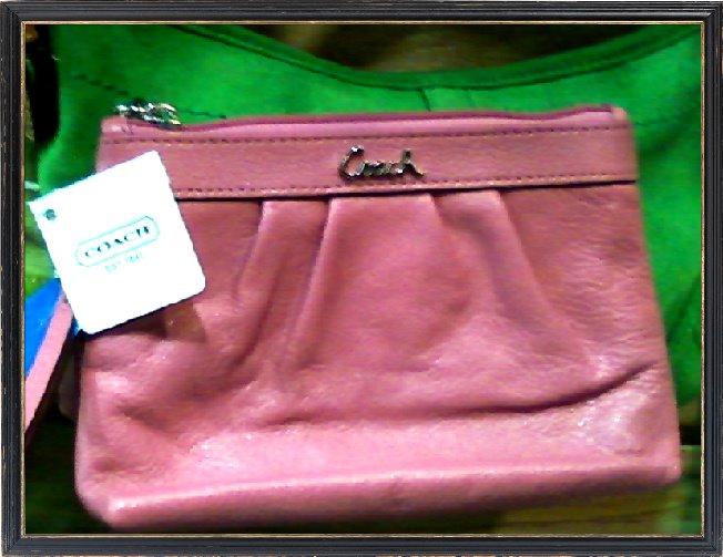 New Coach leather wristlet $39.20, at Hoboken store